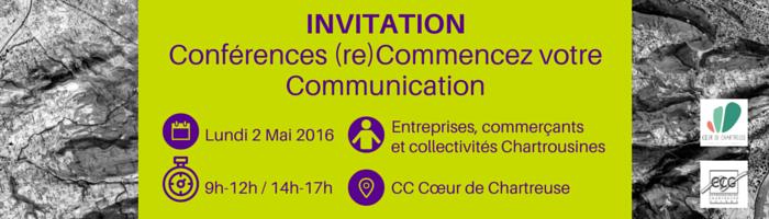 Invitation conférences re commencer votre communication